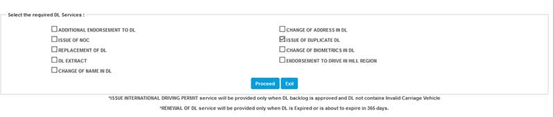 How to apply for duplicate Driving Licence in Online step 8