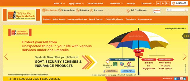 How to Activate Net Banking Account in Syndicate Bank Step 2