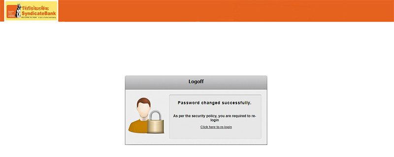 How to Login to Net banking Account in Syndicate Bank Step 8
