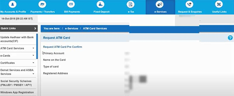 How to apply for a new SBI Debit Card Step 6