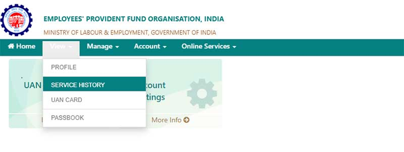 How to know EPF Account Number with UAN Step 4