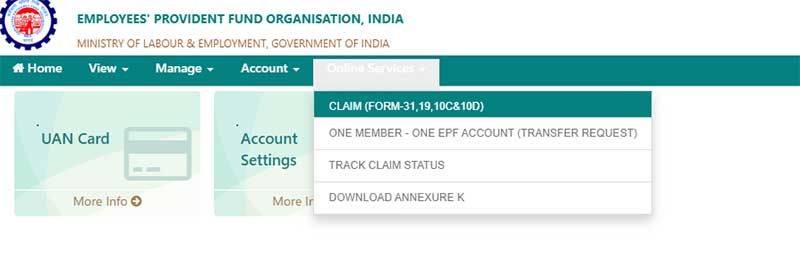 How to make EPF Withdrawal in online Step 3