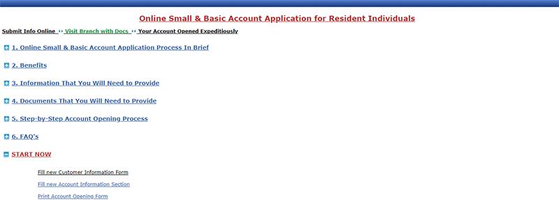 SBI Savings Bank Account Opening Step 3