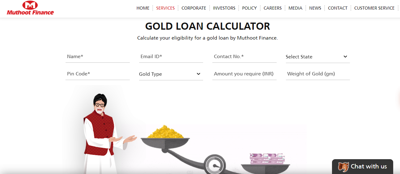 How to calculate your eligibility for gold loan in Muthoot Finance