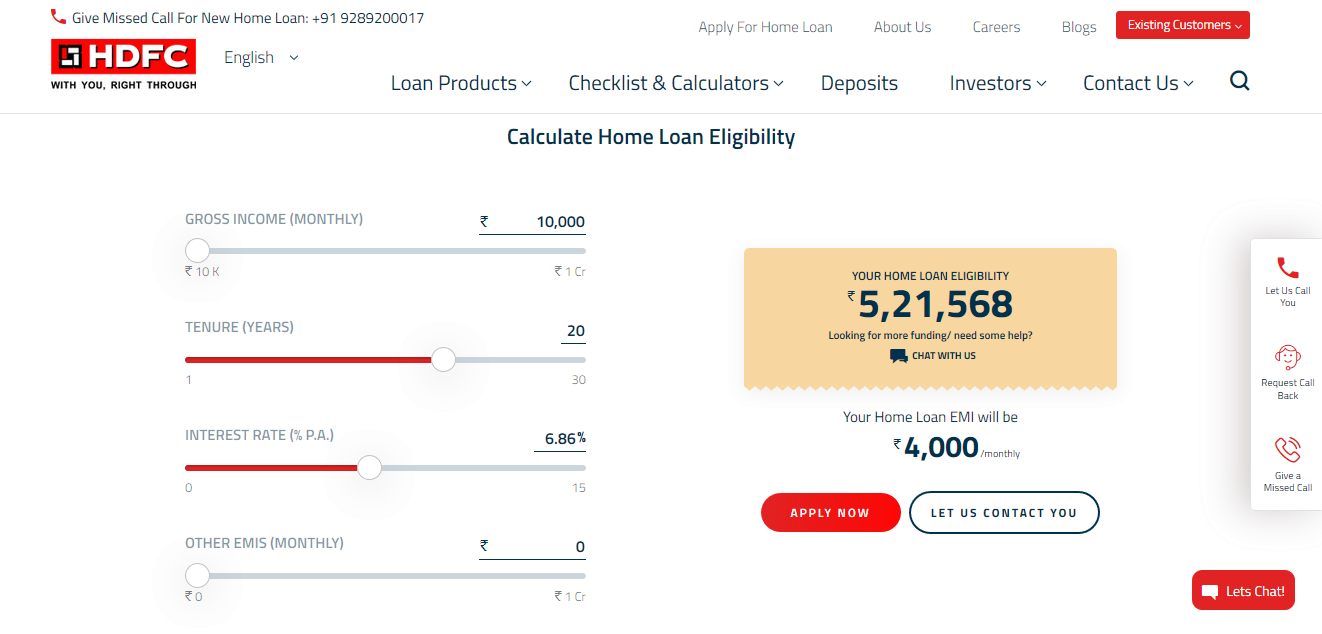 How to calculate HDFC Home Loan Eligibility