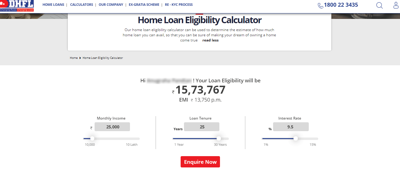 How to calculate DHFL Home Loan Eligibility