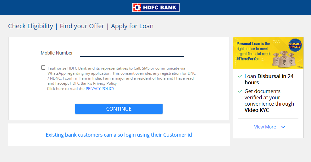 How to apply for HDFC Personal Loan