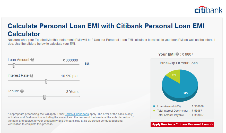How to apply for Citibank Personal Loan