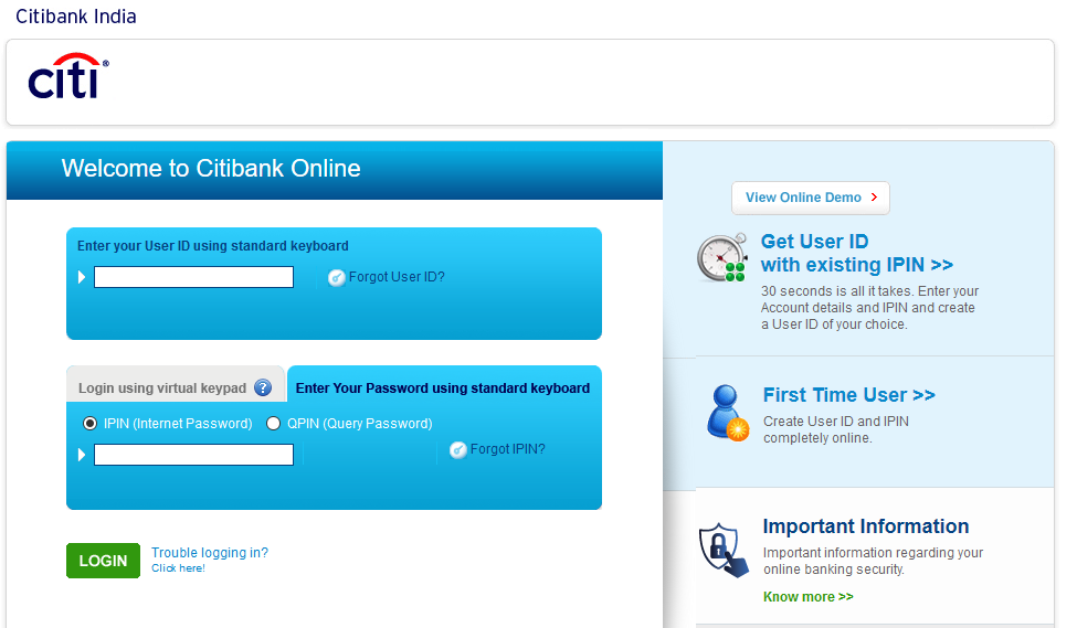 How to login to Citibank Personal Loan Account