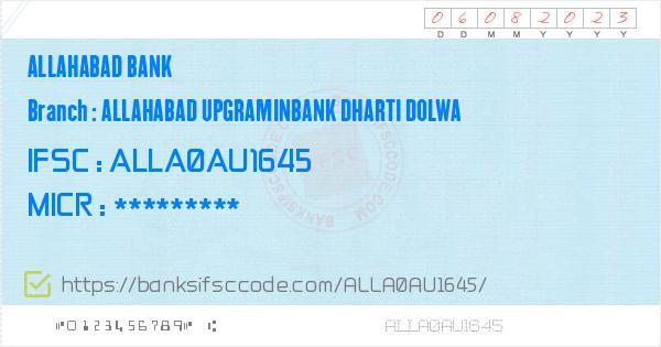 Allahabad Bank Allahabad Upgraminbank Dharti Dolwa Branch