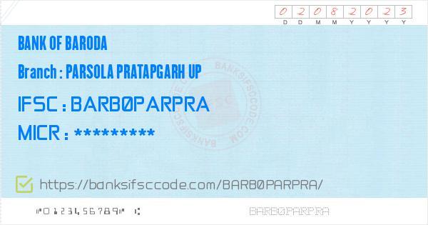 bank of baroda ifsc code uttar pradesh pratapgarh