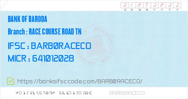 ifsc code of bank of baroda ramnagar branch coimbatore