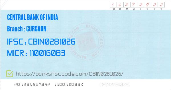 central bank of india atm gurgaon haryana