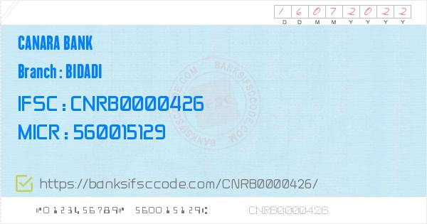 canara bank ifsc code list bangalore