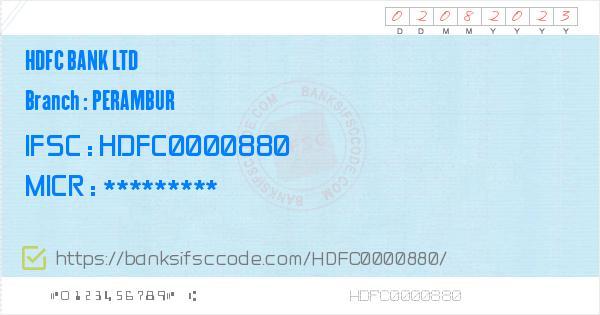 swift code hdfc bank nungambakkam chennai