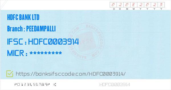 hdfc bank coimbatore main branch ifsc code