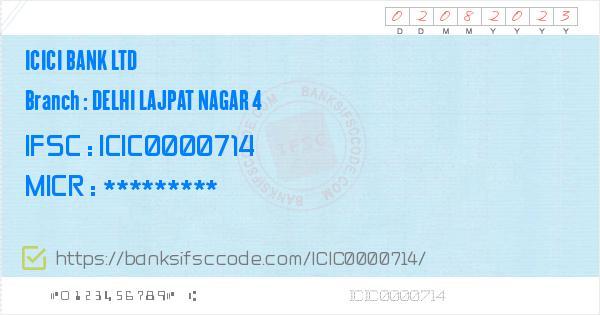 ifsc code of state bank of india lajpat nagar new delhi