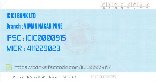 ifsc code icici bank branch