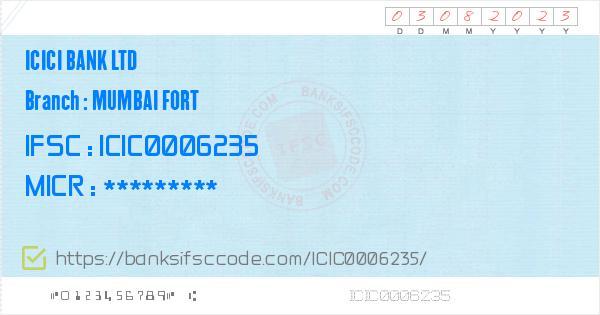 icici bank navsari building fort mumbai micr code