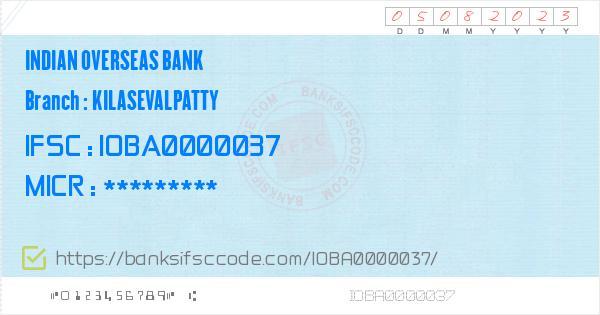 indian overseas bank micr code tamil nadu
