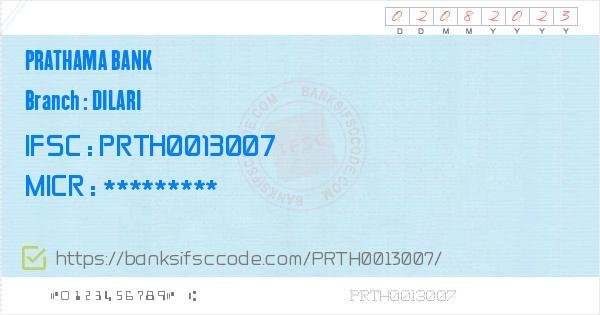 Prathama Bank Dilari Branch IFSC Code - Moradabad  Contact Phone