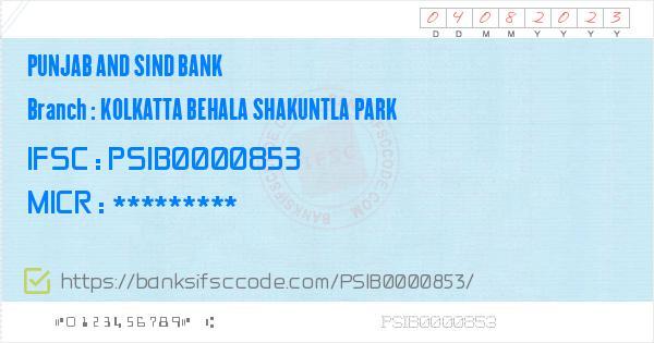 PSIB0000853 - IFSC Code Details