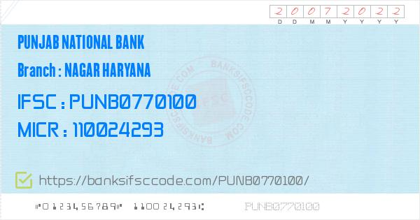 Punjab National Bank Gohana Branch IFSC Code - Sonipat