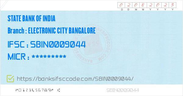 bank of india electronic city ifsc code