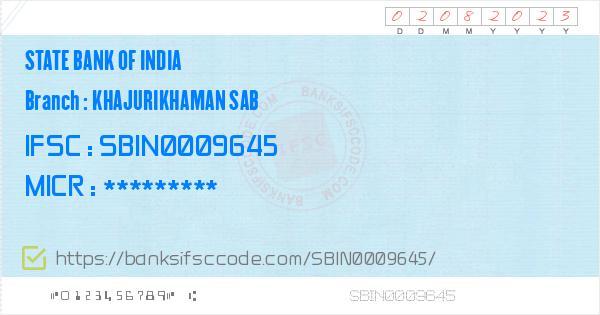 State Bank of India Khajurikhaman Sab Branch IFSC Code