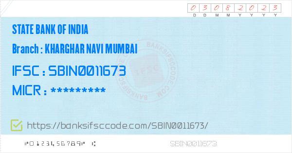 State Bank of India Kharghar Navi Mumbai Branch IFSC Code
