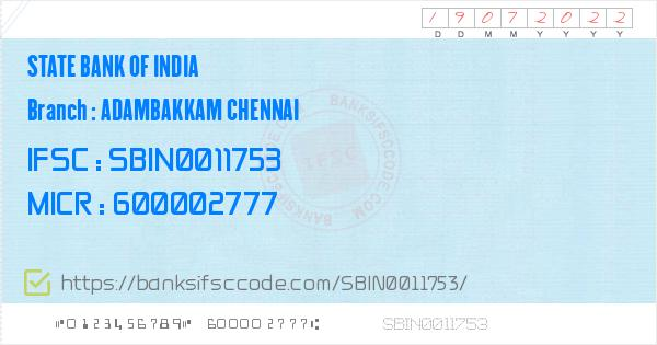 state bank of india chennai branch address