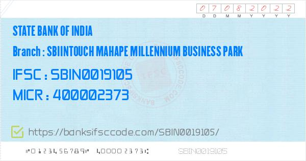 State Bank of India Sbiintouch Mahape Millennium Business