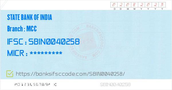 State Bank of India Mcc Branch IFSC Code - Mysore, SBI Mcc IFSC Code