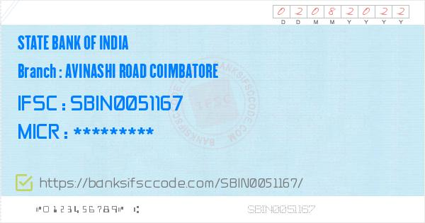 state bank of india coimbatore micr code