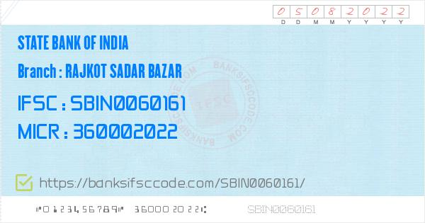 IFSC Code of Rajkot Gayakvadi Branch - State Bank of
