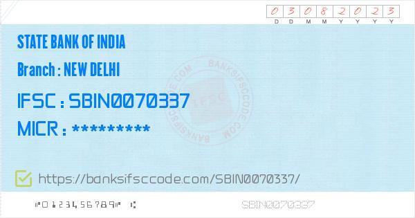 bank of india new delhi main branch ifsc code