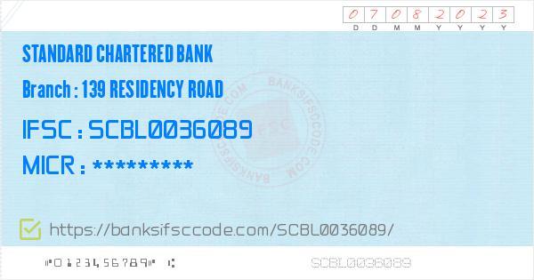 standard chartered bank mg road bangalore ifsc code