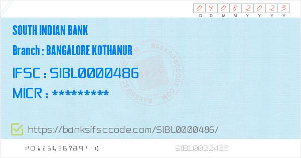 south indian bank bangalore contact number
