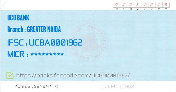 Uco Bank Greater Noida Branch IFSC Code - Gautam Bodda Nagar