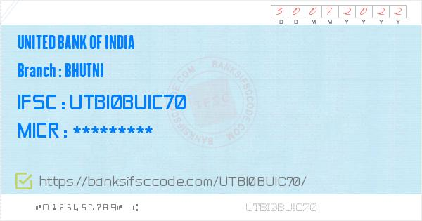 united bank of india ifsc code west bengal chaipat