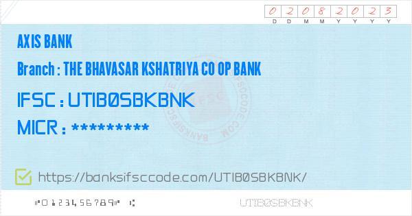 Axis Bank The Bhavasar Kshatriya Co Op Bank Branch IFSC Code